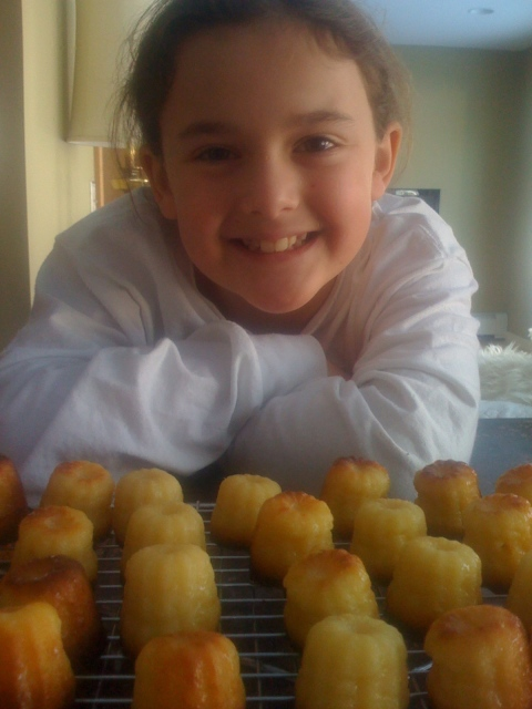 Isabel and her perfect caneles!